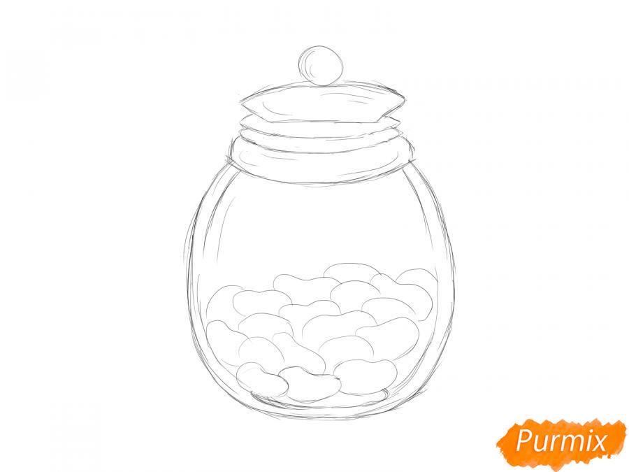 Рисуем фасоль в банке - шаг 5