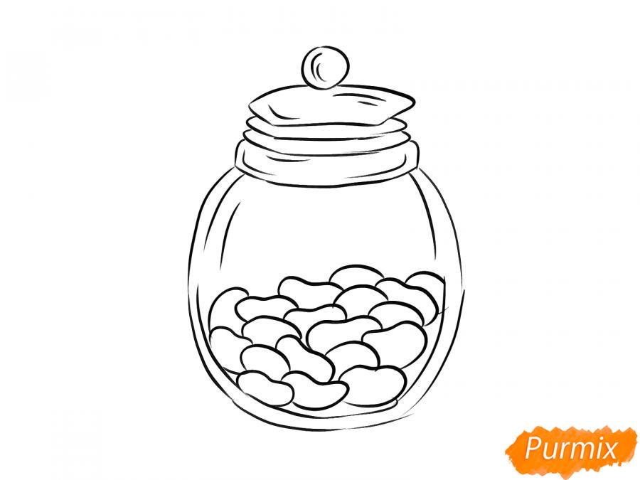 Рисуем фасоль в банке - шаг 6