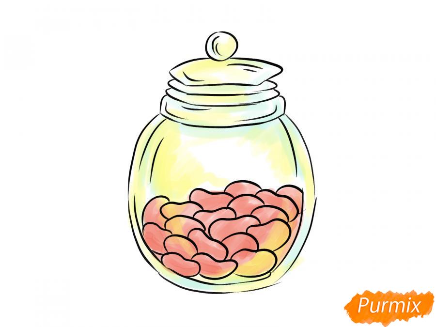 Рисуем фасоль в банке - шаг 8