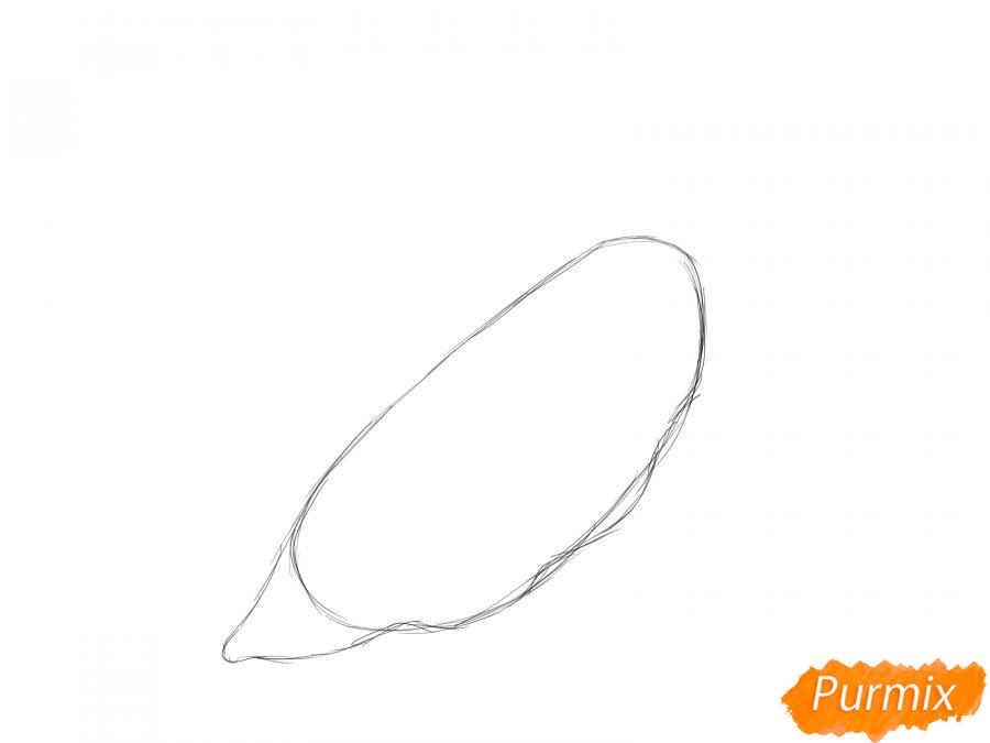 Рисуем горох в стручке - шаг 2