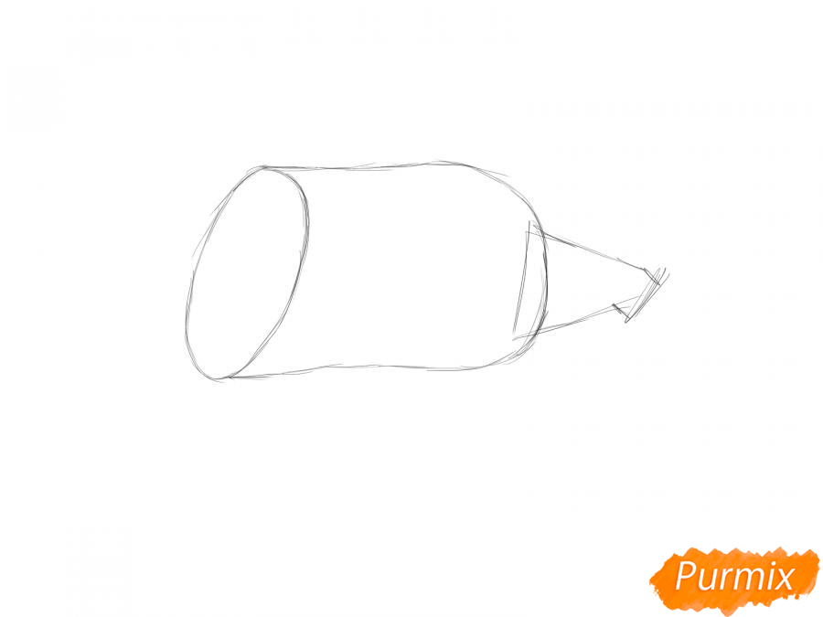 Рисуем кабачок в разрезе - шаг 2