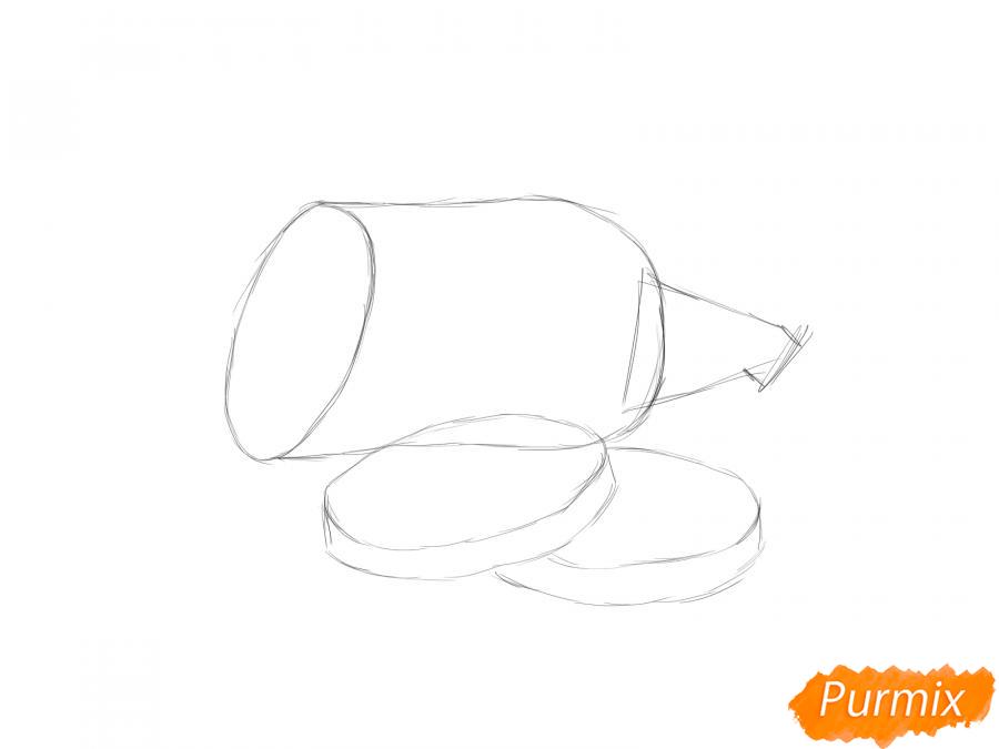Рисуем кабачок в разрезе - шаг 3