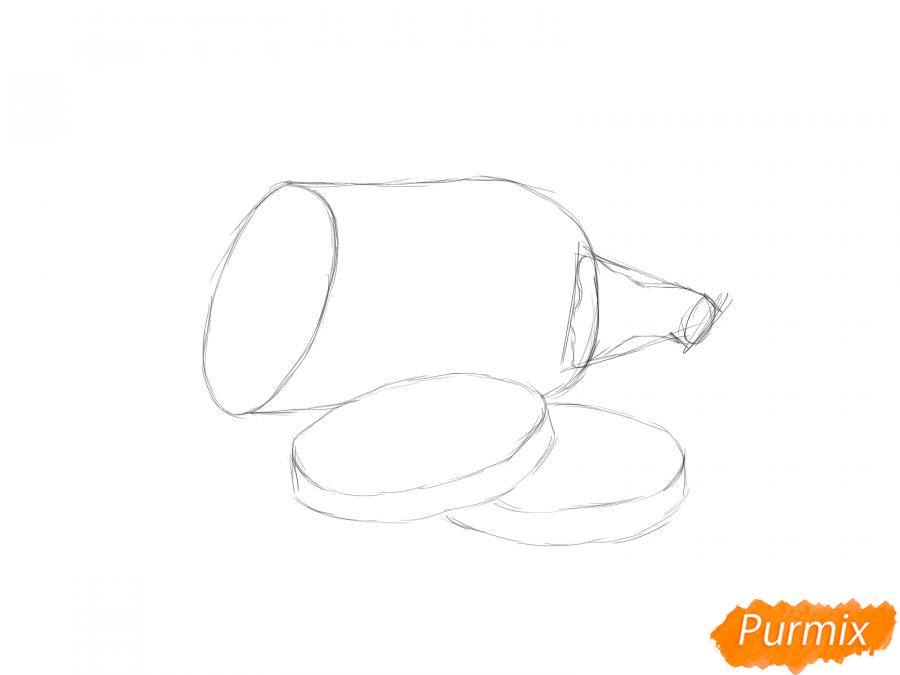 Рисуем кабачок в разрезе - шаг 4