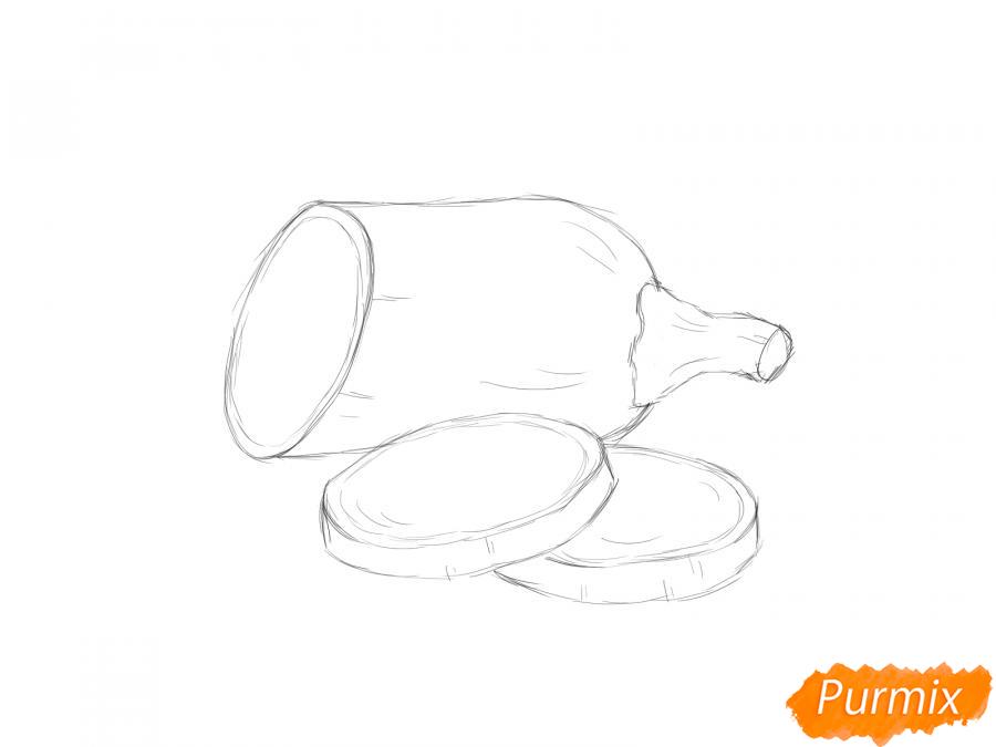Рисуем кабачок в разрезе - шаг 5