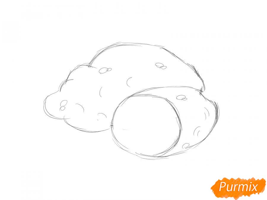 Рисуем картофель в разрезе - шаг 4
