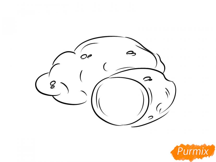 Рисуем картофель в разрезе - шаг 5