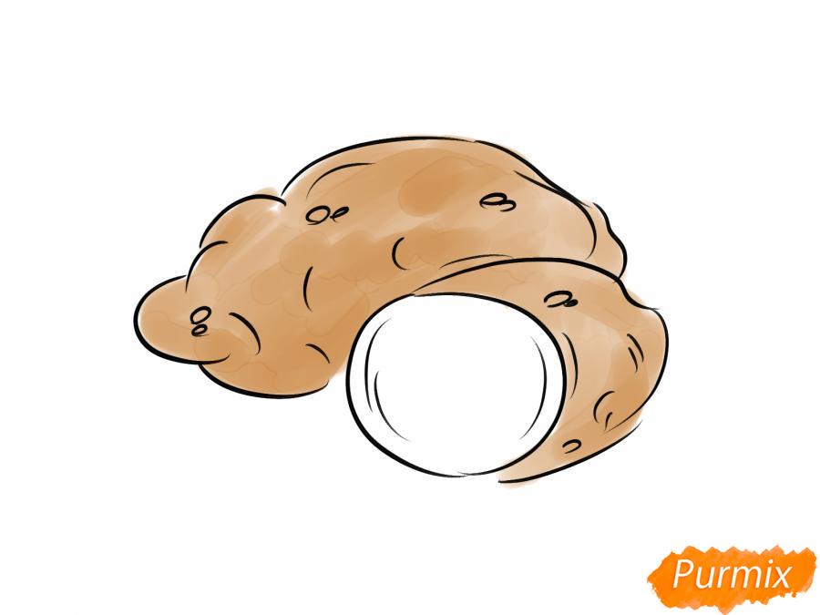 Рисуем картофель в разрезе - шаг 6