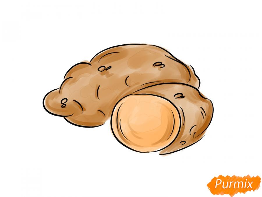 Рисуем картофель в разрезе - шаг 7