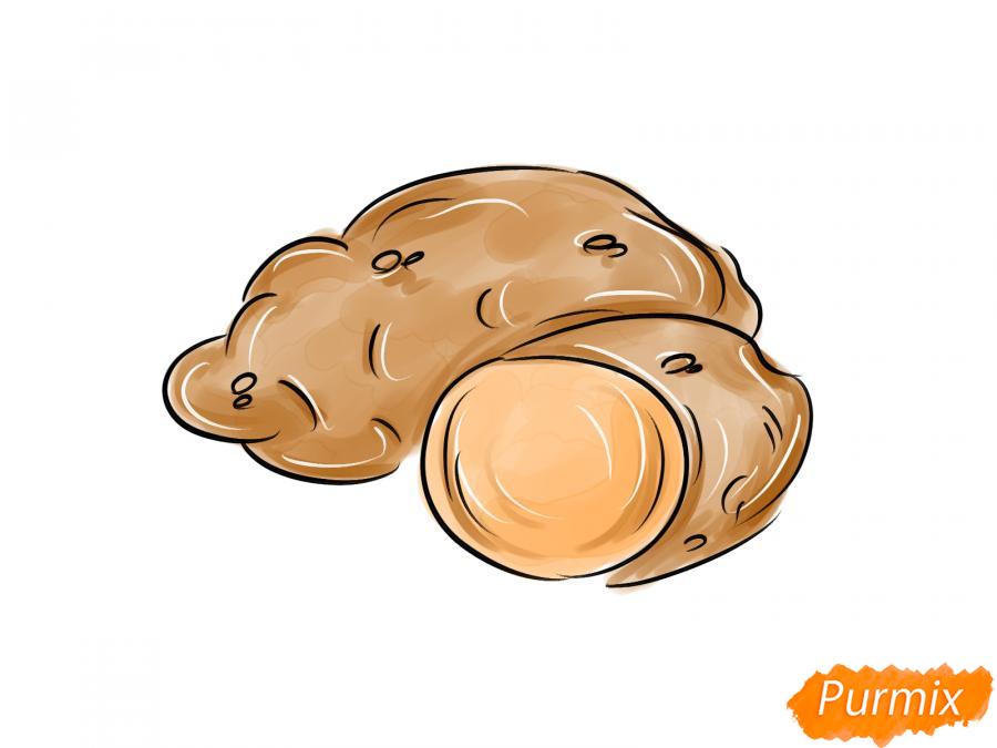 Рисуем картофель в разрезе - шаг 8