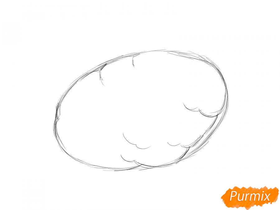 Рисуем картошку карандашами - шаг 2