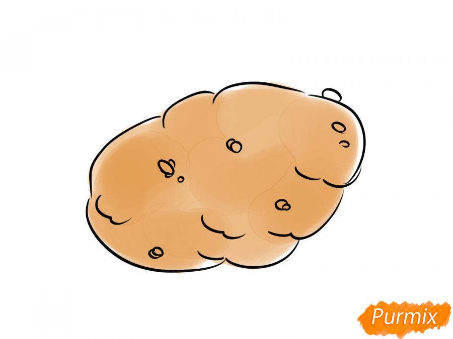 Рисуем картошку карандашами - шаг 6