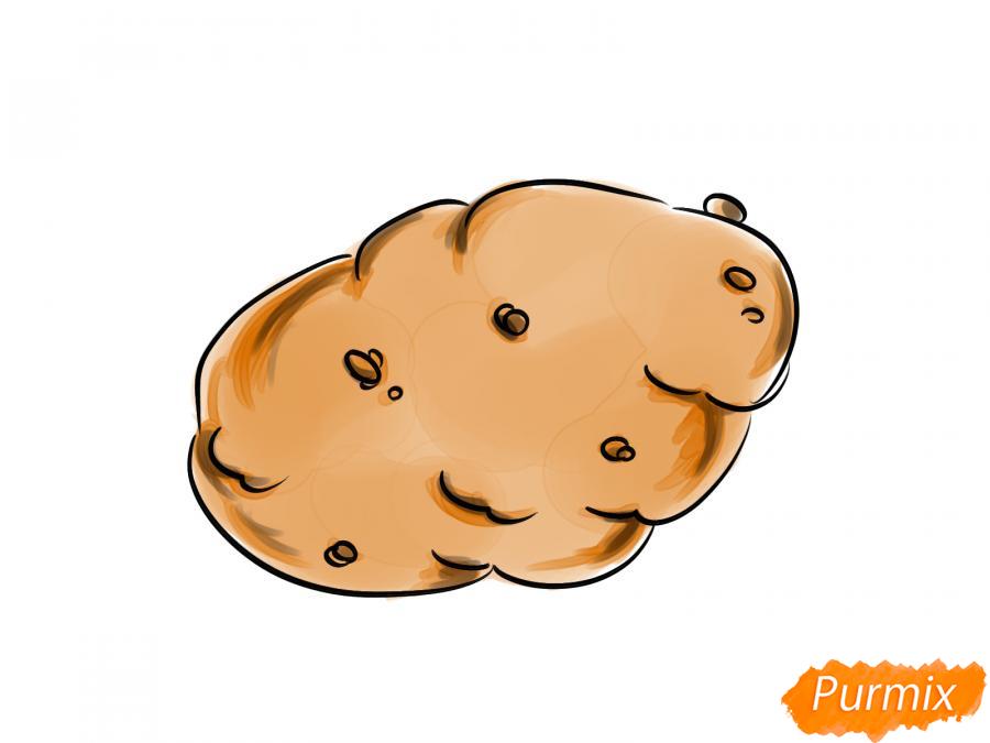Рисуем картошку карандашами - шаг 8