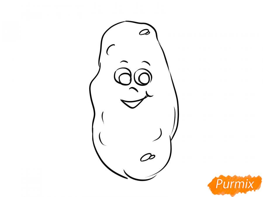 Рисуем картошку с глазками для детей - шаг 5