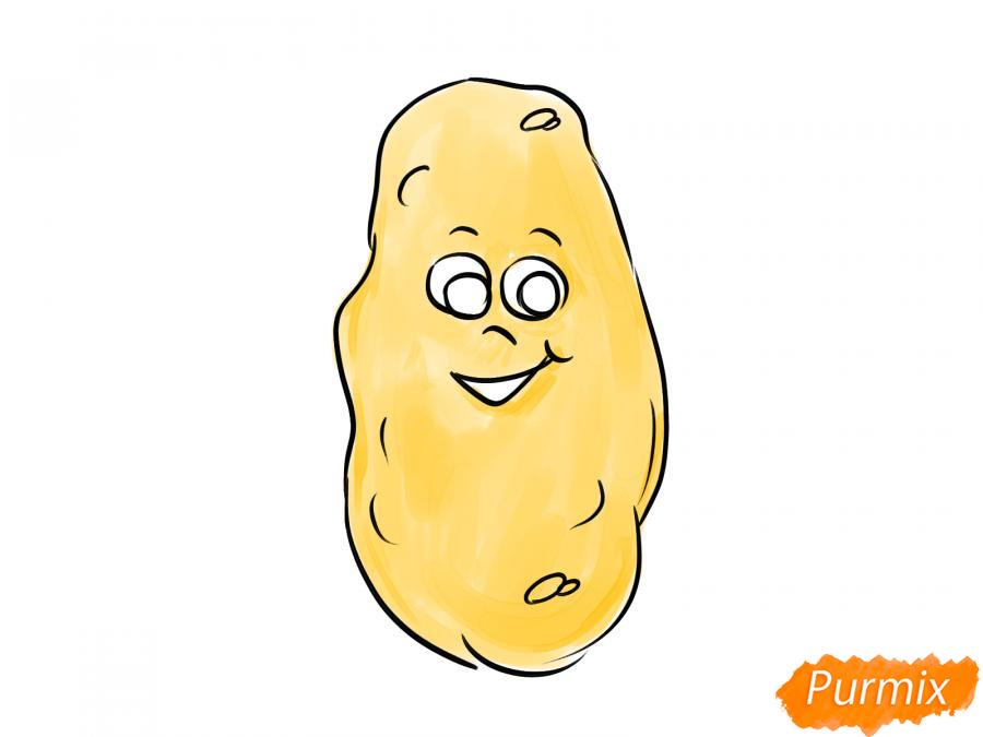 Рисуем картошку с глазками для детей - шаг 6