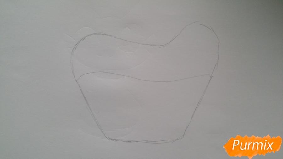 Рисуем милый кексик - шаг 2