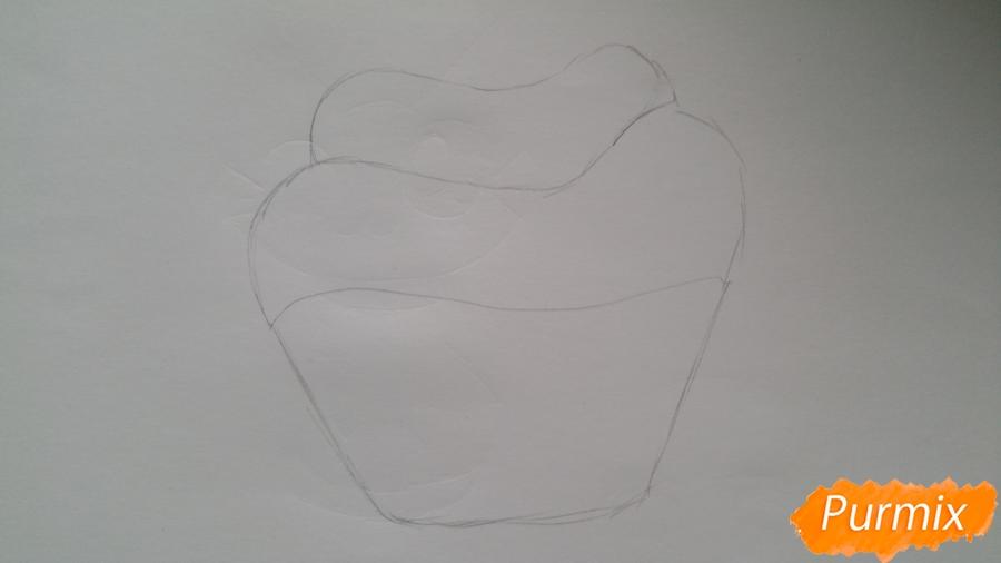Рисуем милый кексик - шаг 3