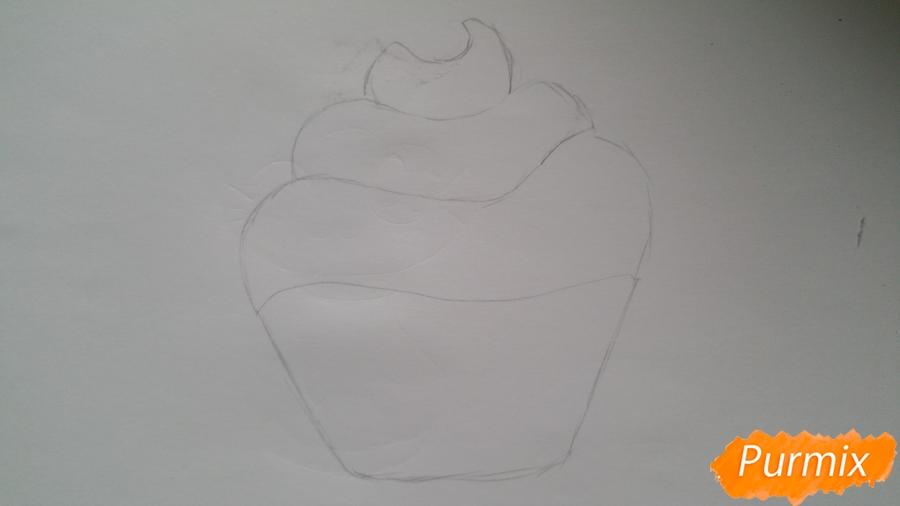 Рисуем милый кексик - шаг 4