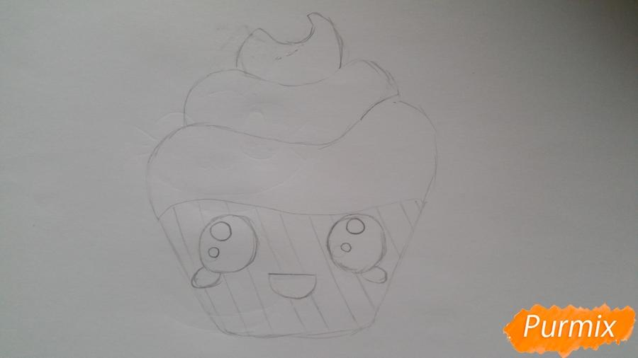 Рисуем милый кексик - шаг 5