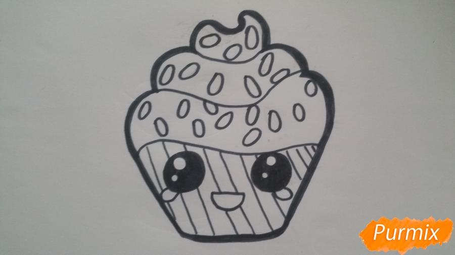 Рисуем милый кексик - шаг 7