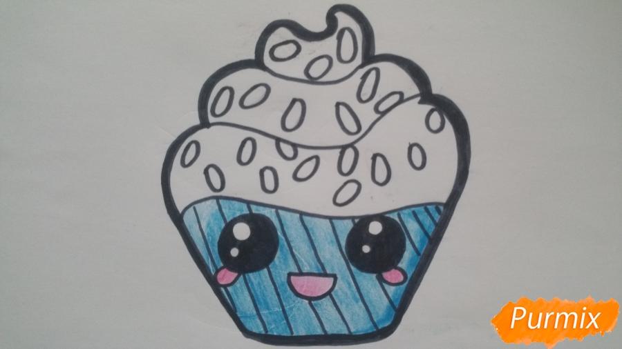 Рисуем милый кексик - шаг 8