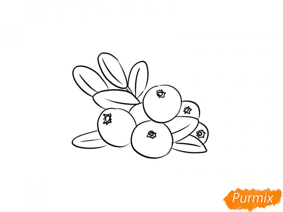 Рисуем клюкву карандашами - шаг 4