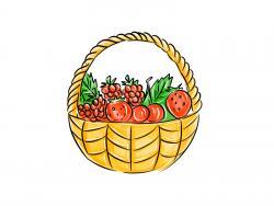 корзину с ягодами