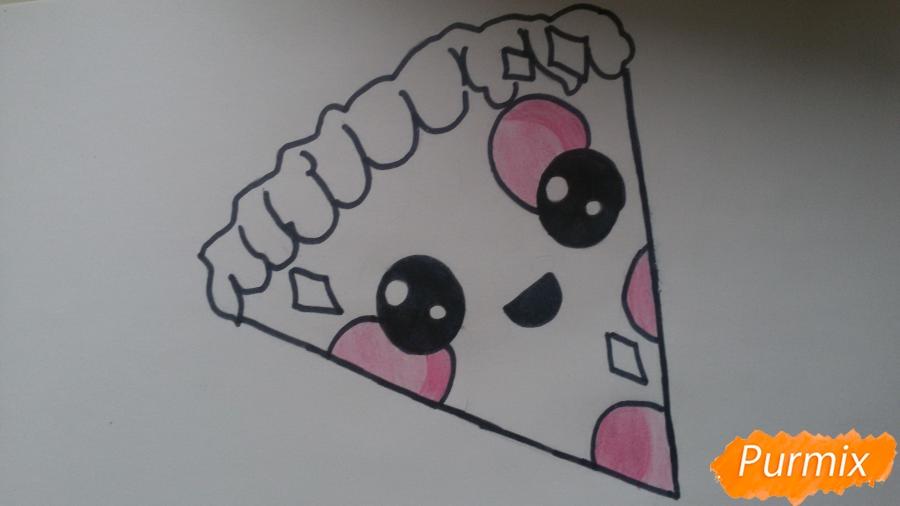 Рисуем кусок пиццы с глазками - шаг 7
