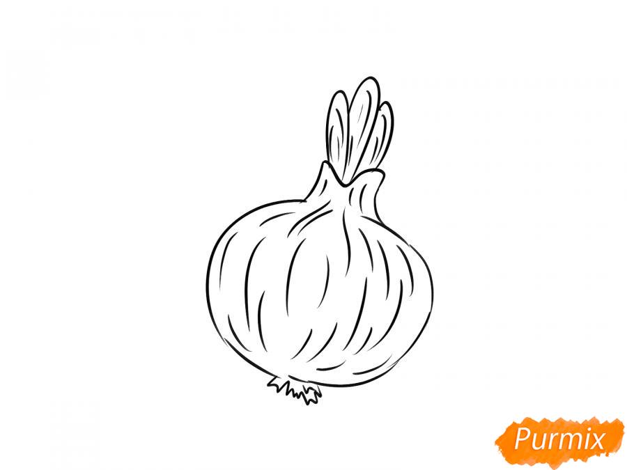 Рисуем лук карандашами - шаг 5
