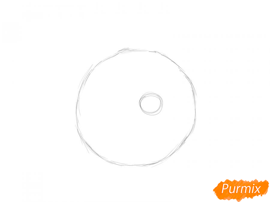 Рисуем мандарин без кожуры - шаг 1
