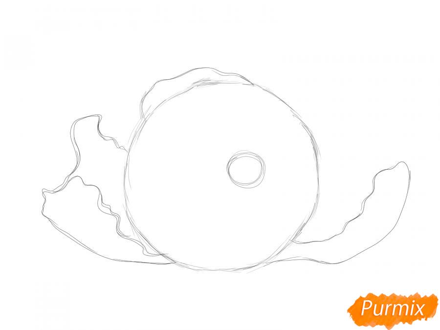 Рисуем мандарин без кожуры - шаг 2