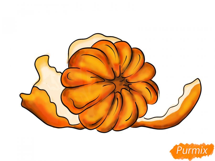 Рисуем мандарин без кожуры - шаг 7