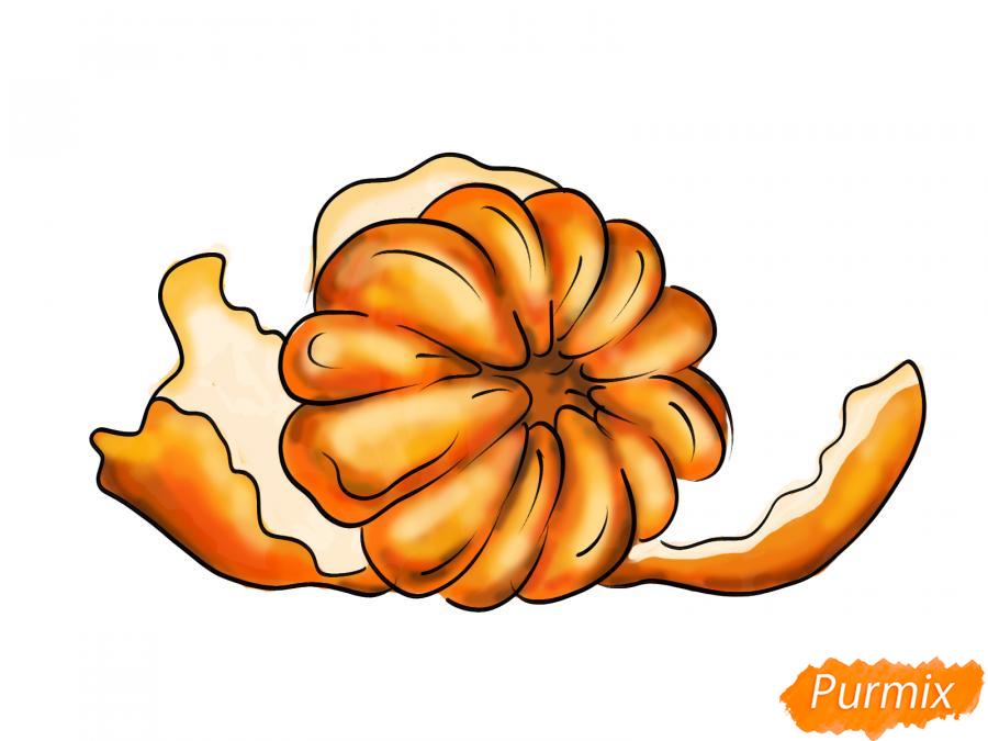 Рисуем мандарин без кожуры - шаг 8