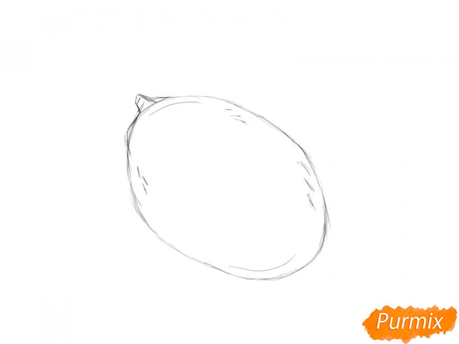 Рисуем манго карандашами - шаг 3