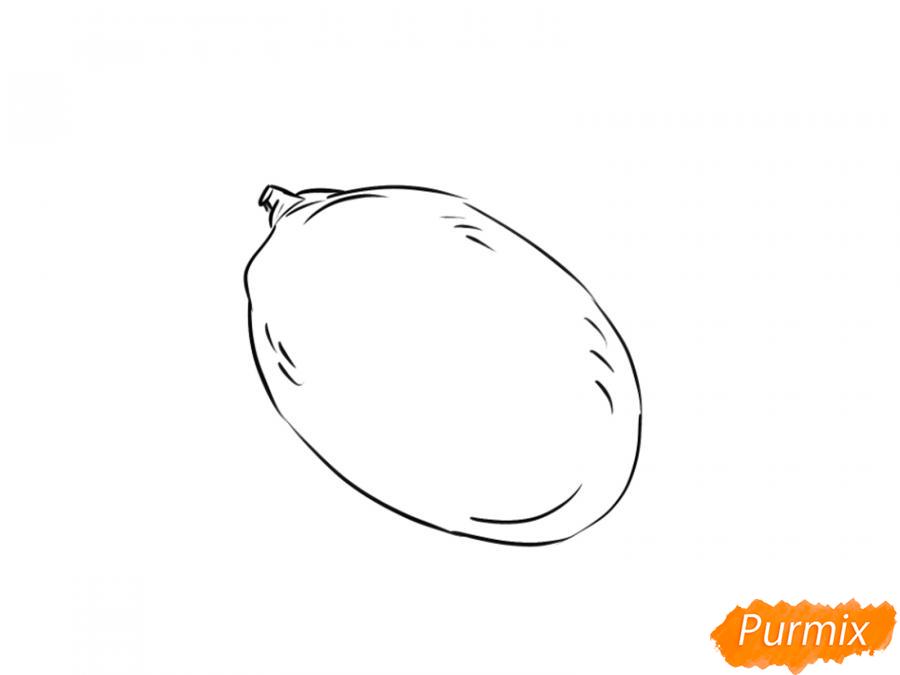 Рисуем манго карандашами - шаг 4