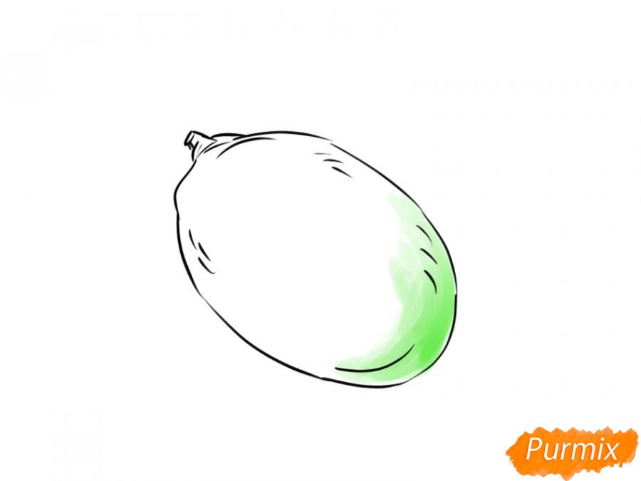 Рисуем манго карандашами - шаг 5