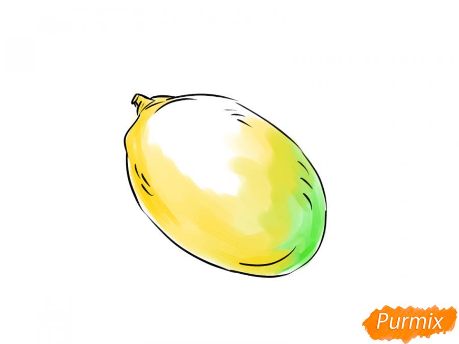 Рисуем манго карандашами - шаг 6