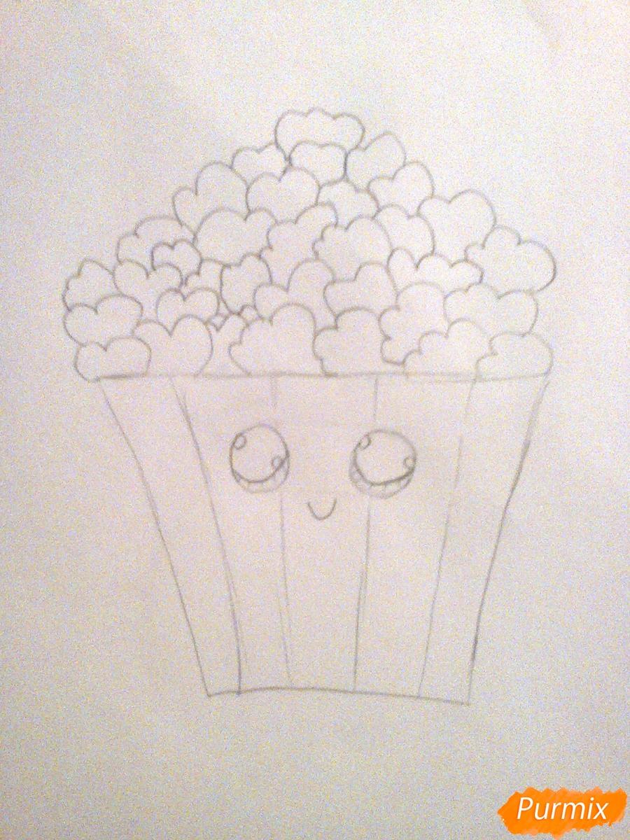 Рисуем милую коробочку попкорна - шаг 3