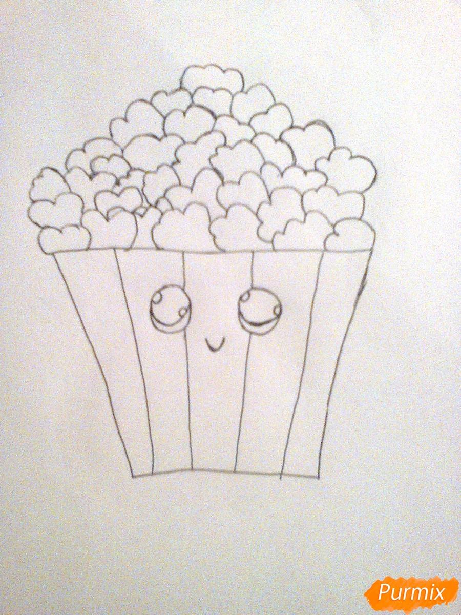 Рисуем милую коробочку попкорна - шаг 4