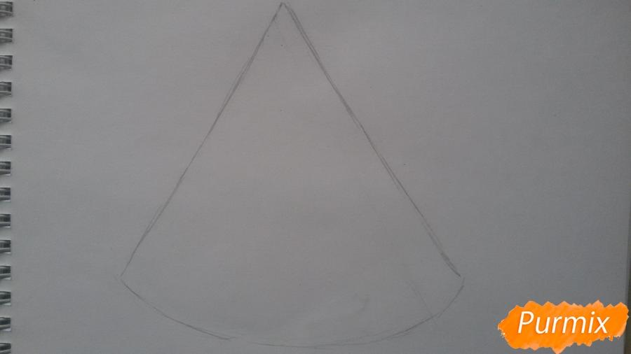 Рисуем милый кусочек арбузика с глазками - шаг 1