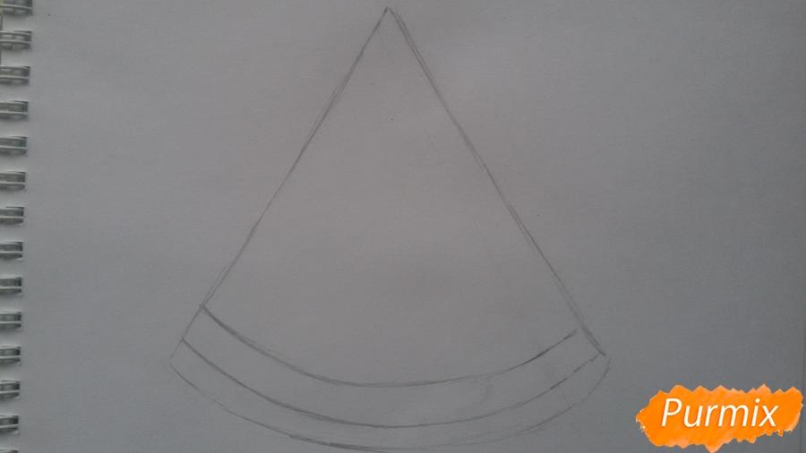 Рисуем милый кусочек арбузика с глазками - шаг 2