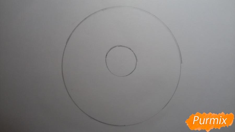 Рисуем милый пончик с глазками - шаг 2