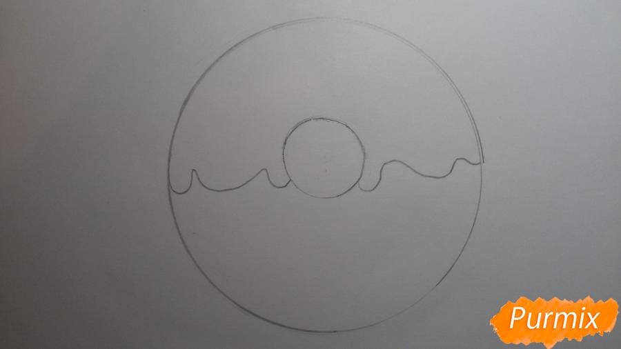 Рисуем милый пончик с глазками - шаг 3