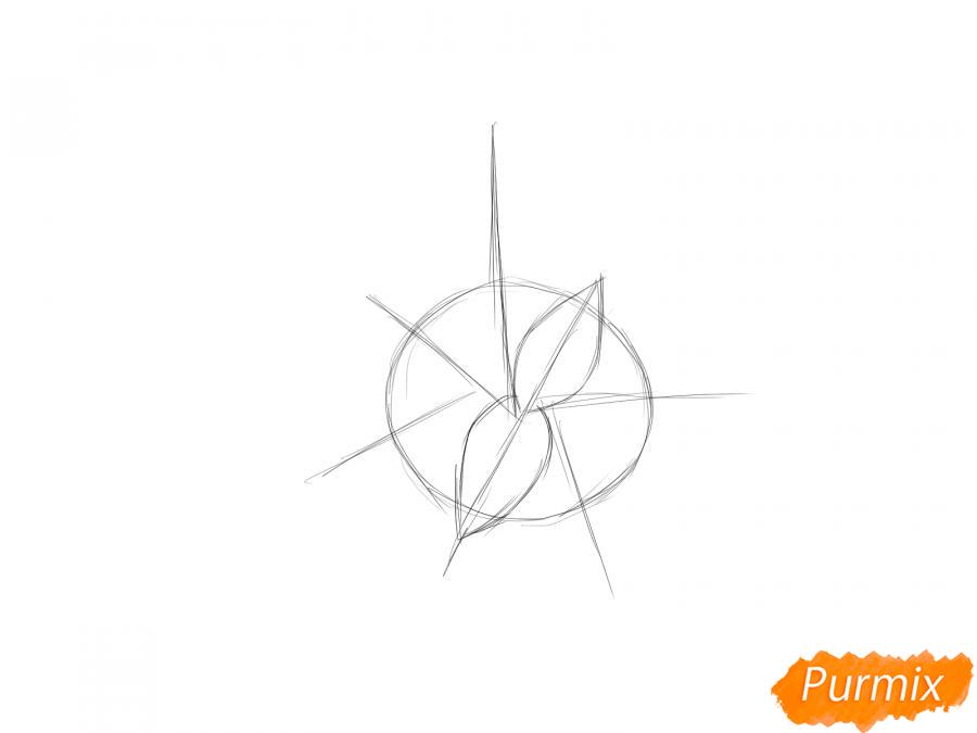 Рисуем мяту - шаг 2