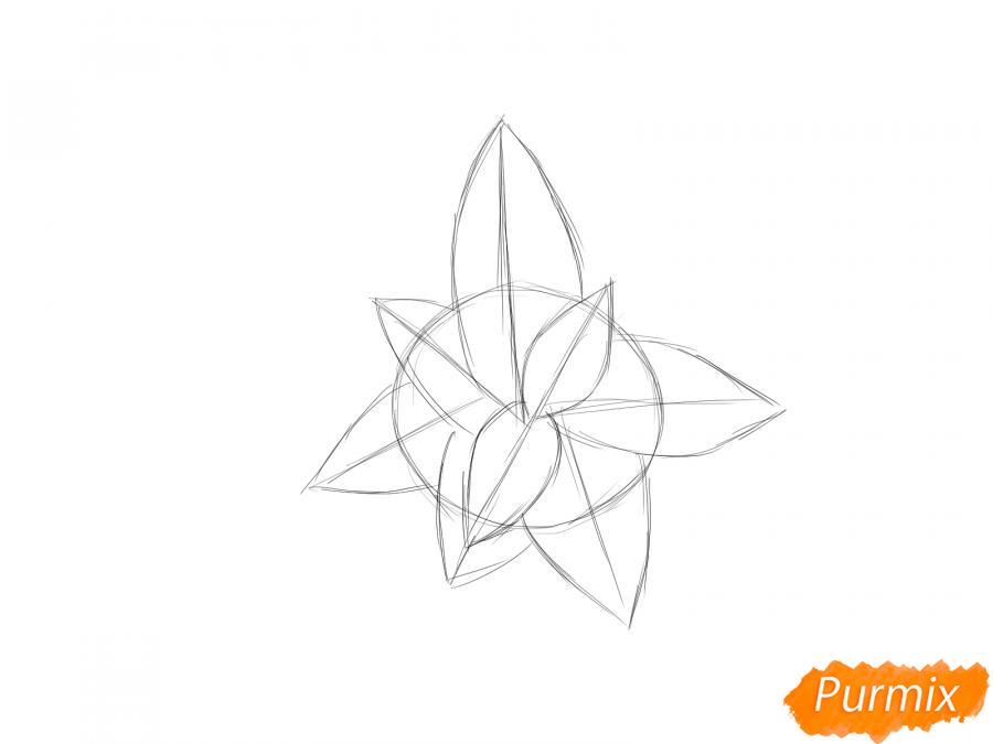 Рисуем мяту - шаг 3