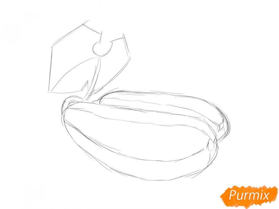 Рисуем несколько кабачков с листиками - шаг 3