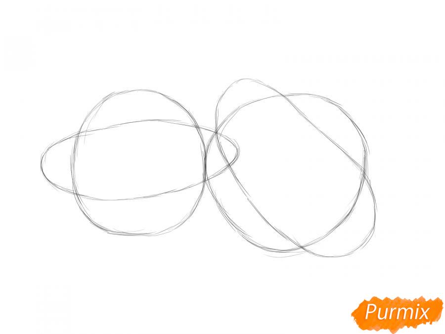 Рисуем несколько патиссонов - шаг 2