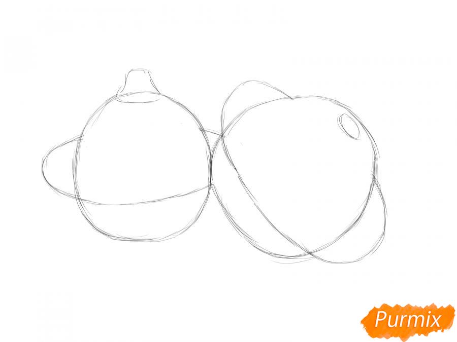 Рисуем несколько патиссонов - шаг 3