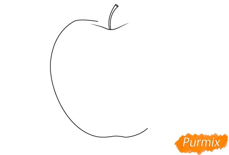 Рисуем откушенное яблоко - шаг 1