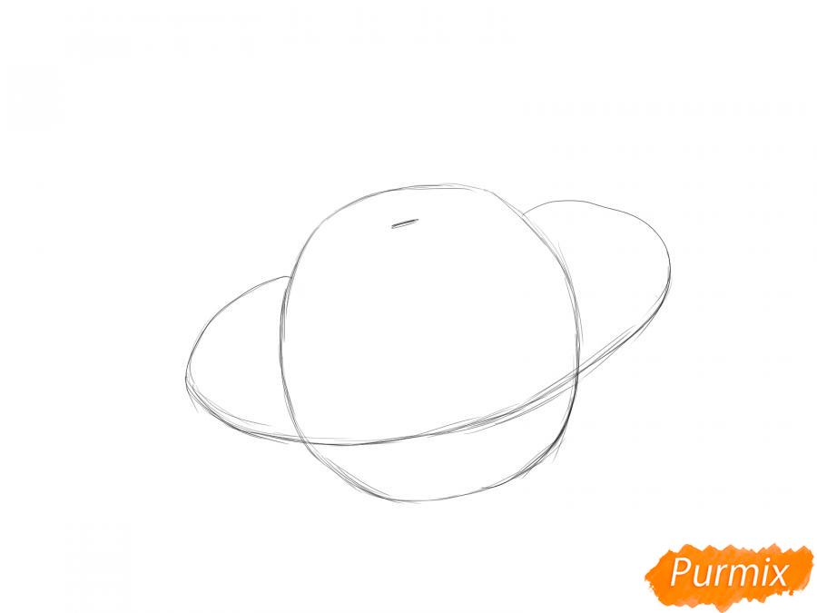 Рисуем патиссон  и красками - шаг 2