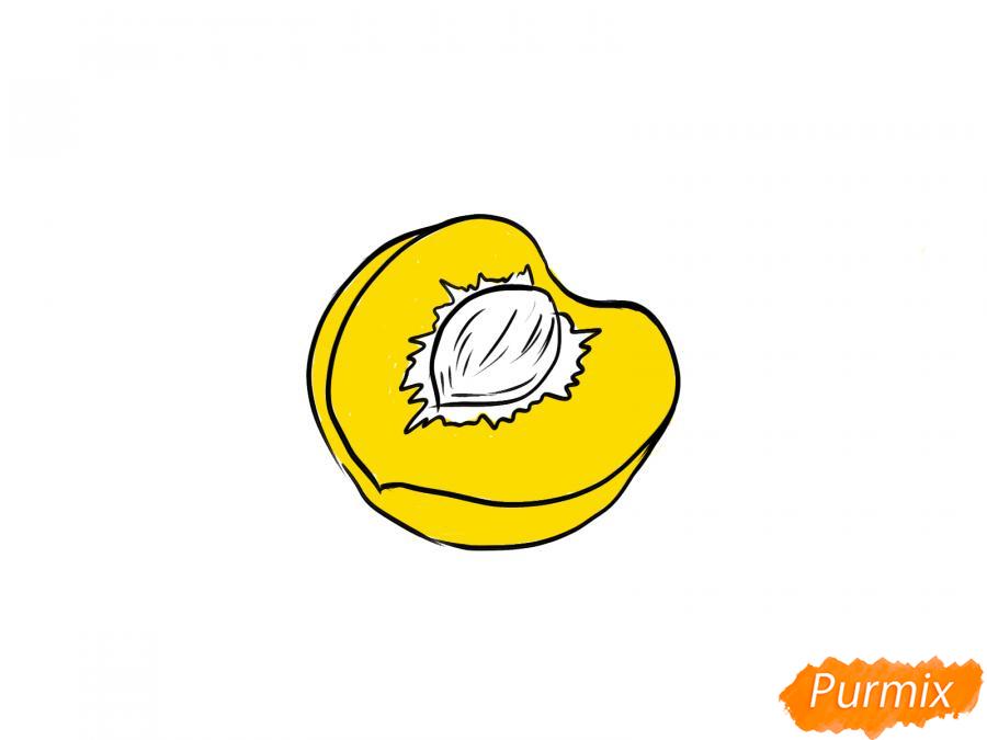 Рисуем персик в разрезе - шаг 6